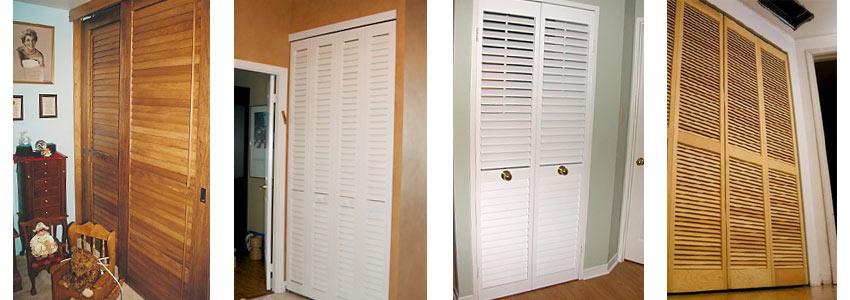 Различные виды жалюзийных дверей