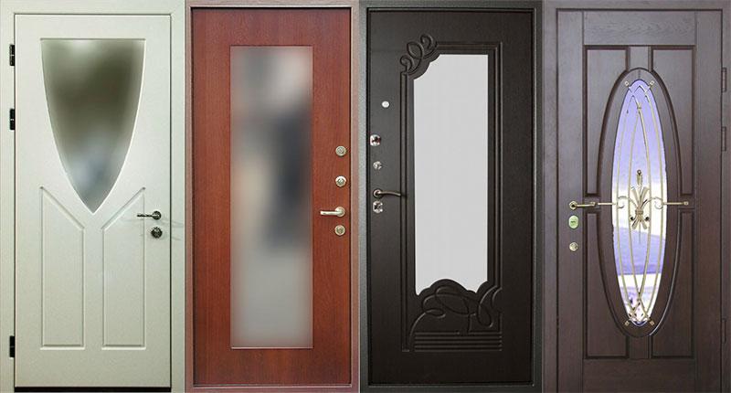 Входные двери с зеркальными вставками