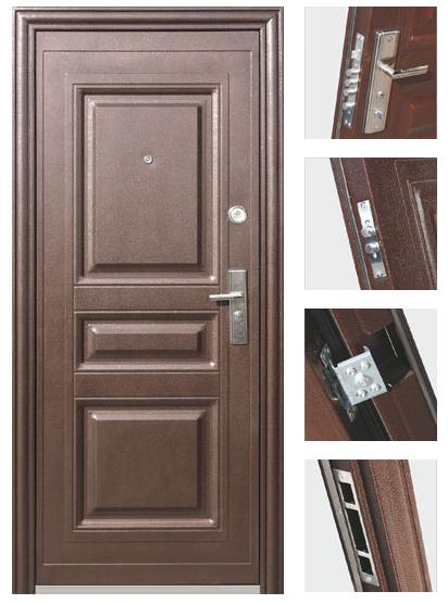 Бюджетная металлическая дверь
