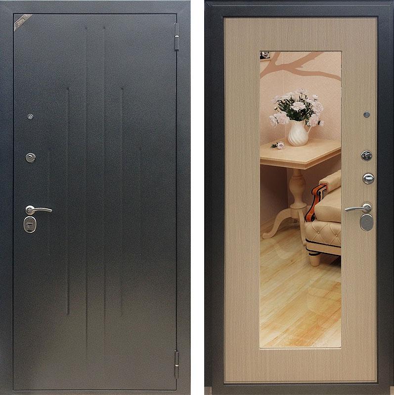 двери стальная с зеркалом