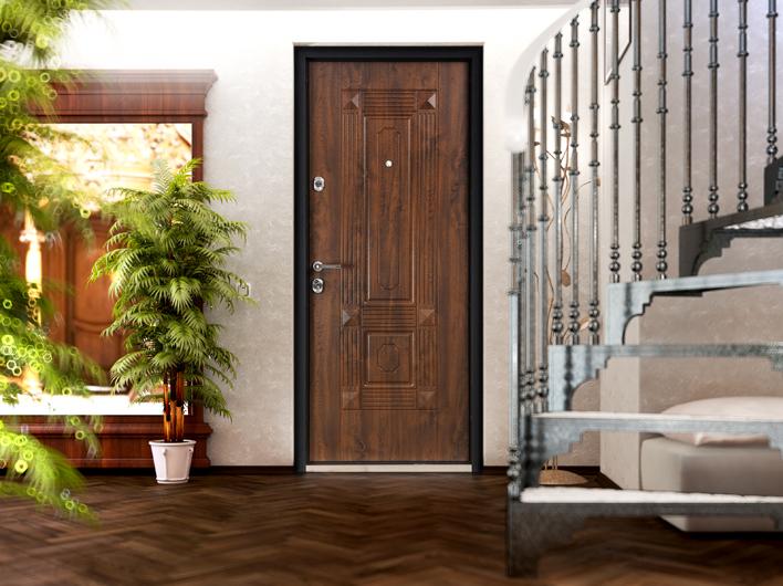 Двери входные металлические в интерьере фото