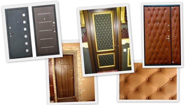 вторая входная дверь в квартиру обшитая дермантином купить