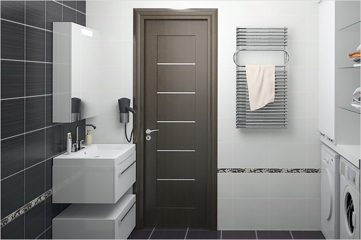 Как поставить дверь в ванную комнату своими руками
