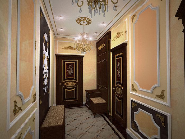 Двери в интерьере в стиле барокко