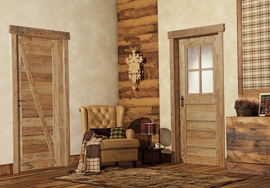 Двери в интерьере кантри