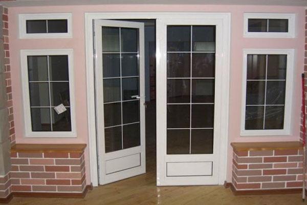 ПВХ дверь со стеклом