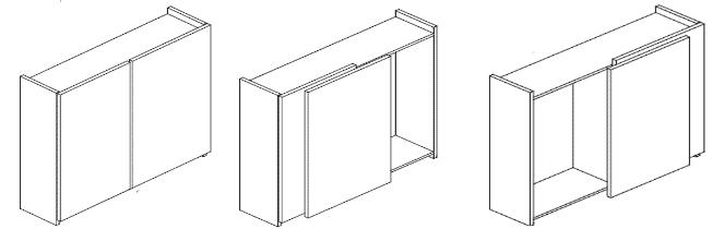 Схема работы компланарной системы открывания дверей
