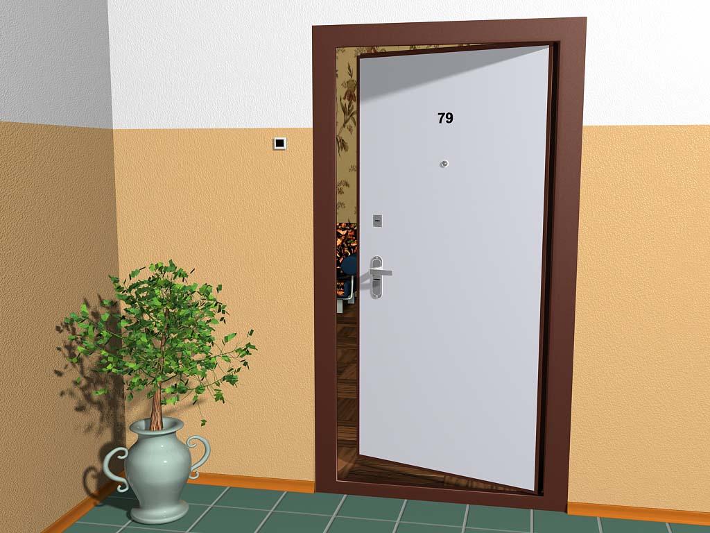 Входная дверь внутреннего открывания