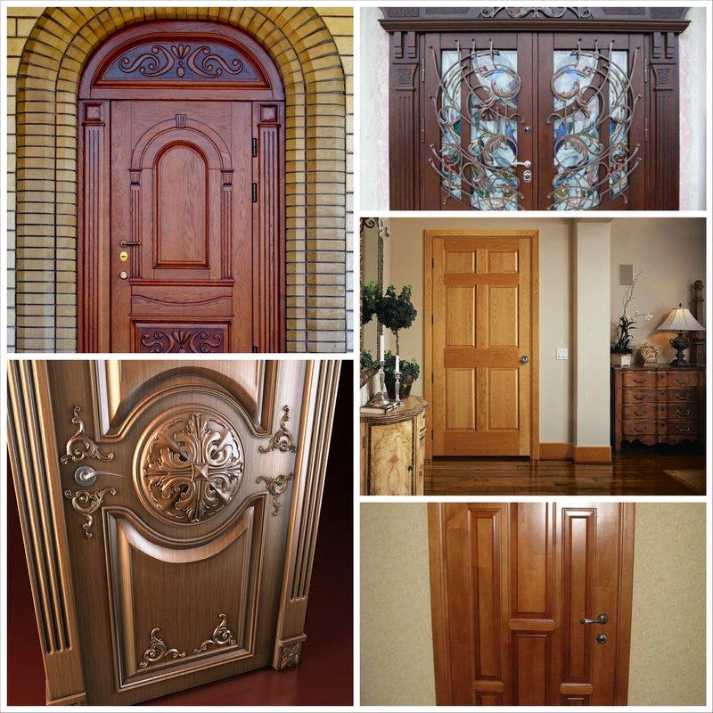 Модели деревянных входных дверей