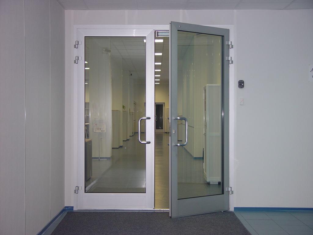 Распашная ПВХ дверь