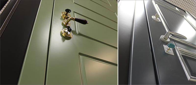 Дверь с окрашенным МДФ