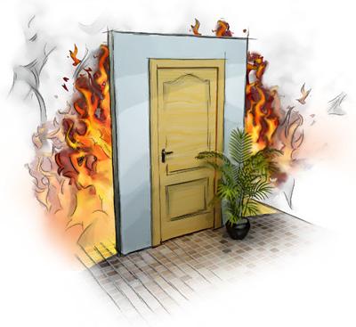 Рисунок противопожарной двери