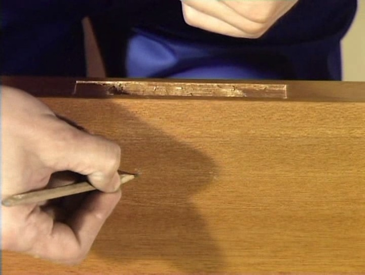 Разметка места под установку ручки