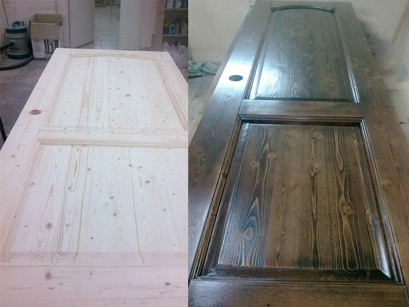 Реставрация межкомнатной двери