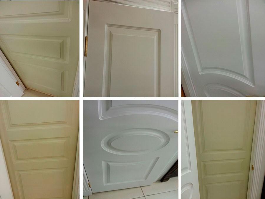Дверь с покраской эмалью