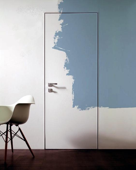 Окрашивание двери со скрытым коробом