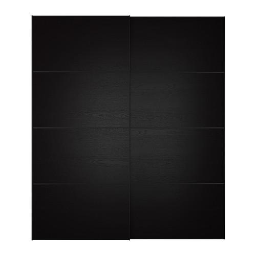 Раздвижная черная дверь