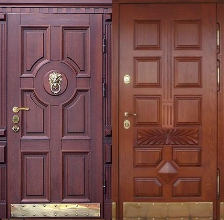 Входные двери из натуральной древесины