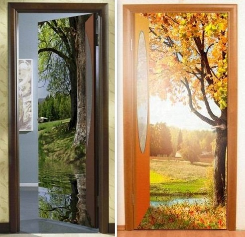 Двери с 3Д рисунком