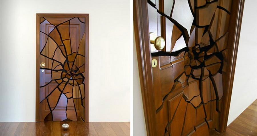 Необычные двери межкомнатные своими руками 56