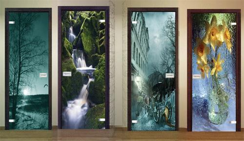 Наклейки на стеклянные двери