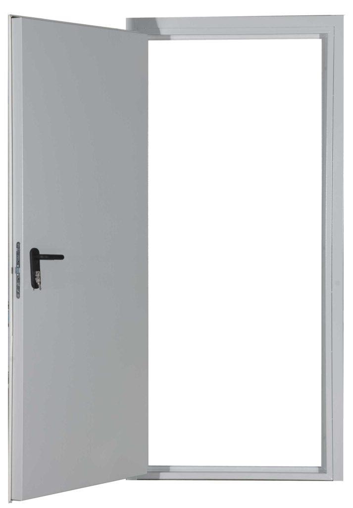 Простая металлическая дверь