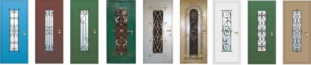 Модели дверей с ковкой