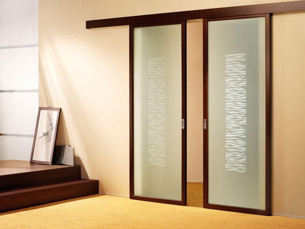 Внешний вид раздвижной двери