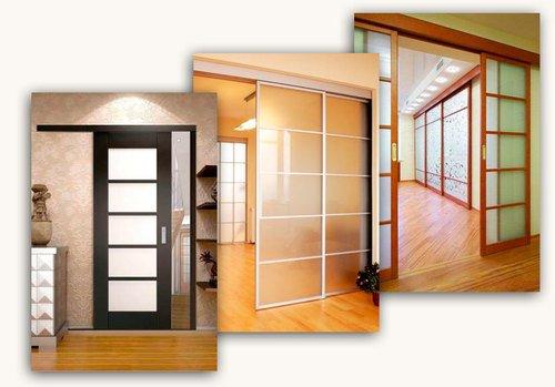Различные модели раздвижных дверей
