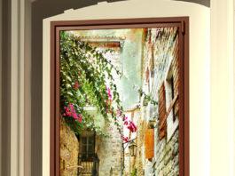 Виниловая наклейка для двери