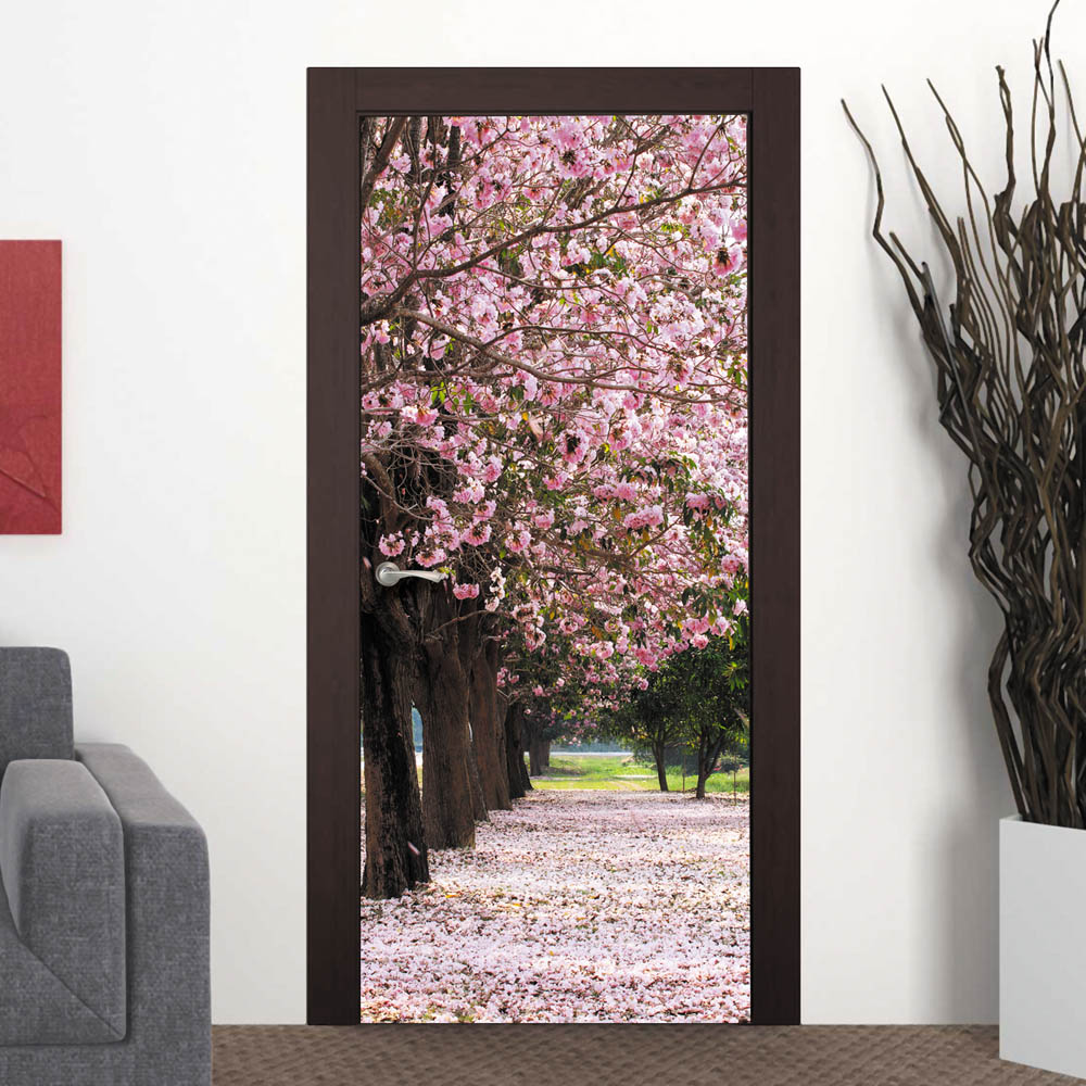 Фотообои на двери с природой