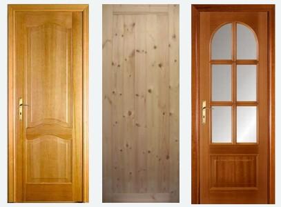 Разные модели дверей из дерева