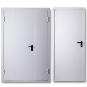 Противопожарные двери с разным количеством полотен