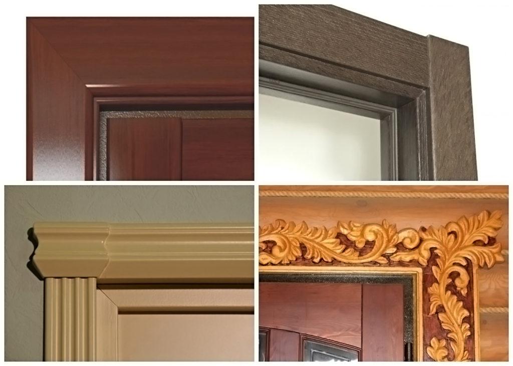 Разные виды наличников для межкомнатных дверей