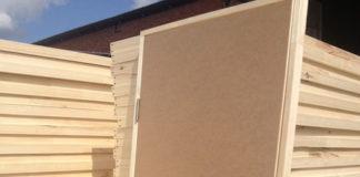 Внешний вид строительной двери