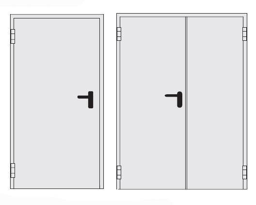 Вид технических дверей
