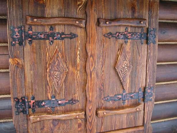 Отделка двери