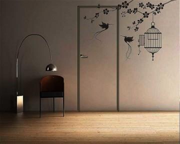 Покраска скрытой двери