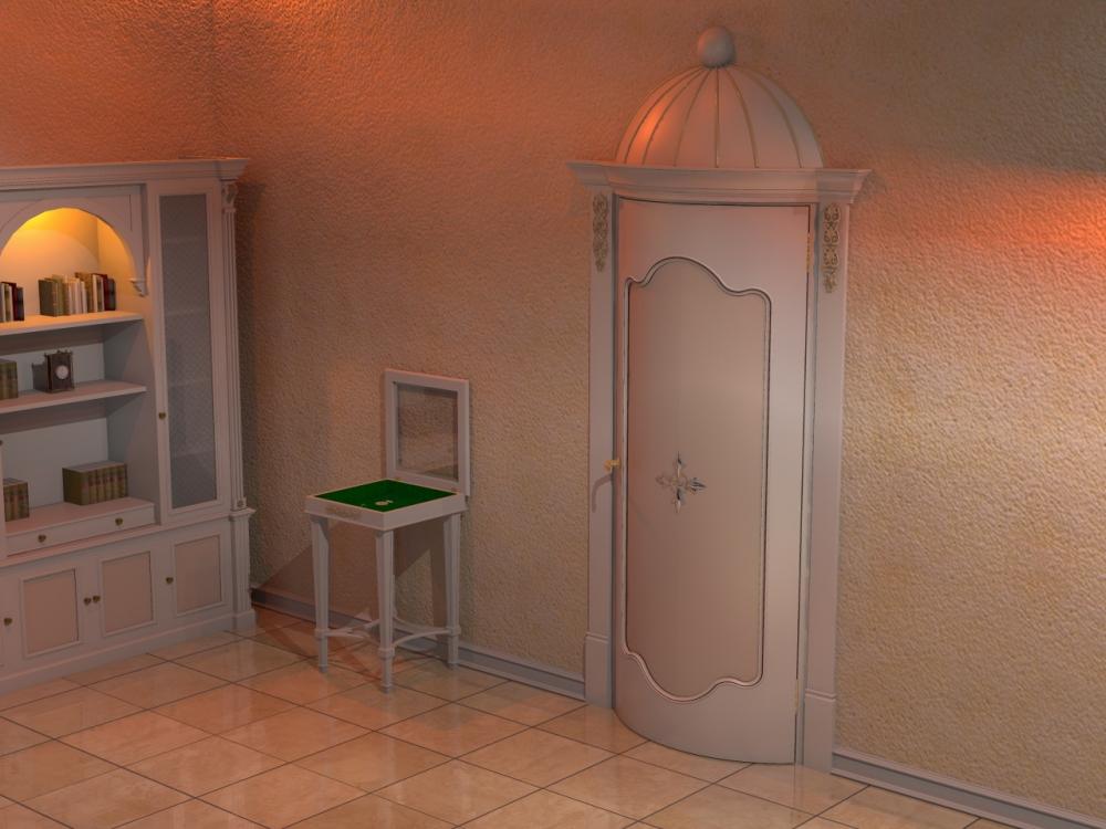 Распашная закругленная дверь