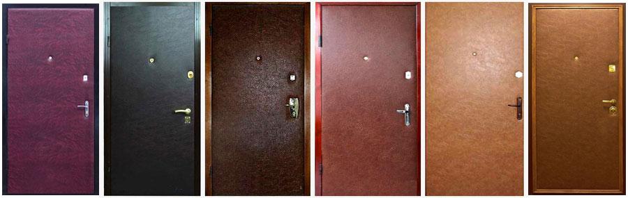 Двери с обивкой из дермантина