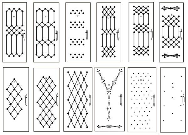 Варианты рисунков для дверей из дермантина