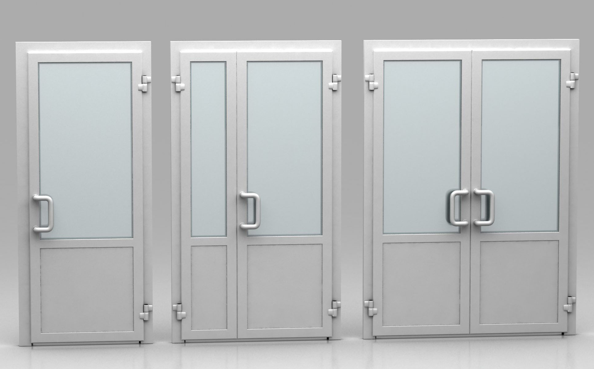 Двери, изготовленные из сплава алюминия