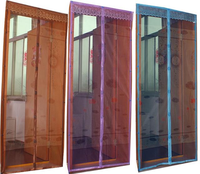 Антимоскитные сетки на двери различных цветов