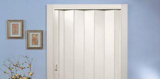 Сложенная дверь-гармошка
