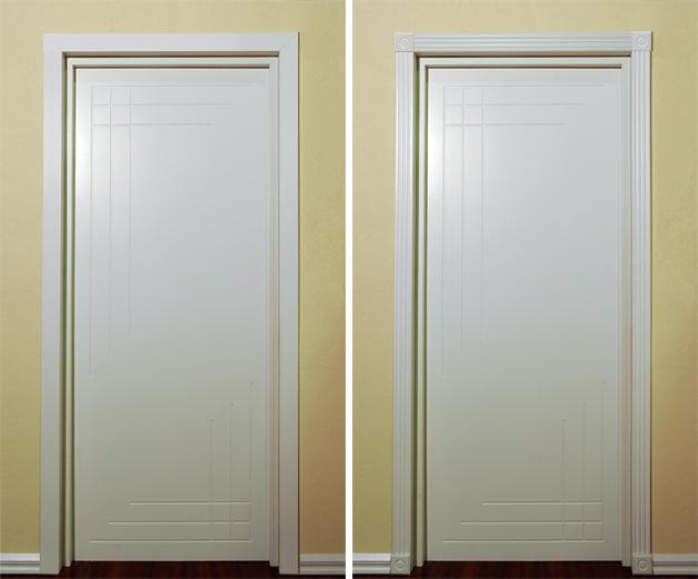 Белая дверь с двух сторон