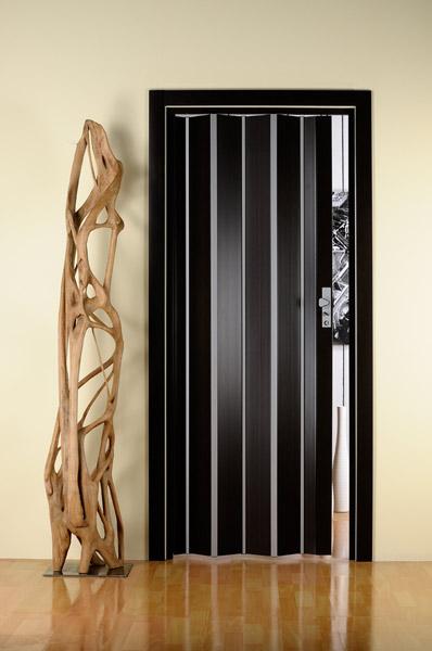 Чёрная дверь-гармошка