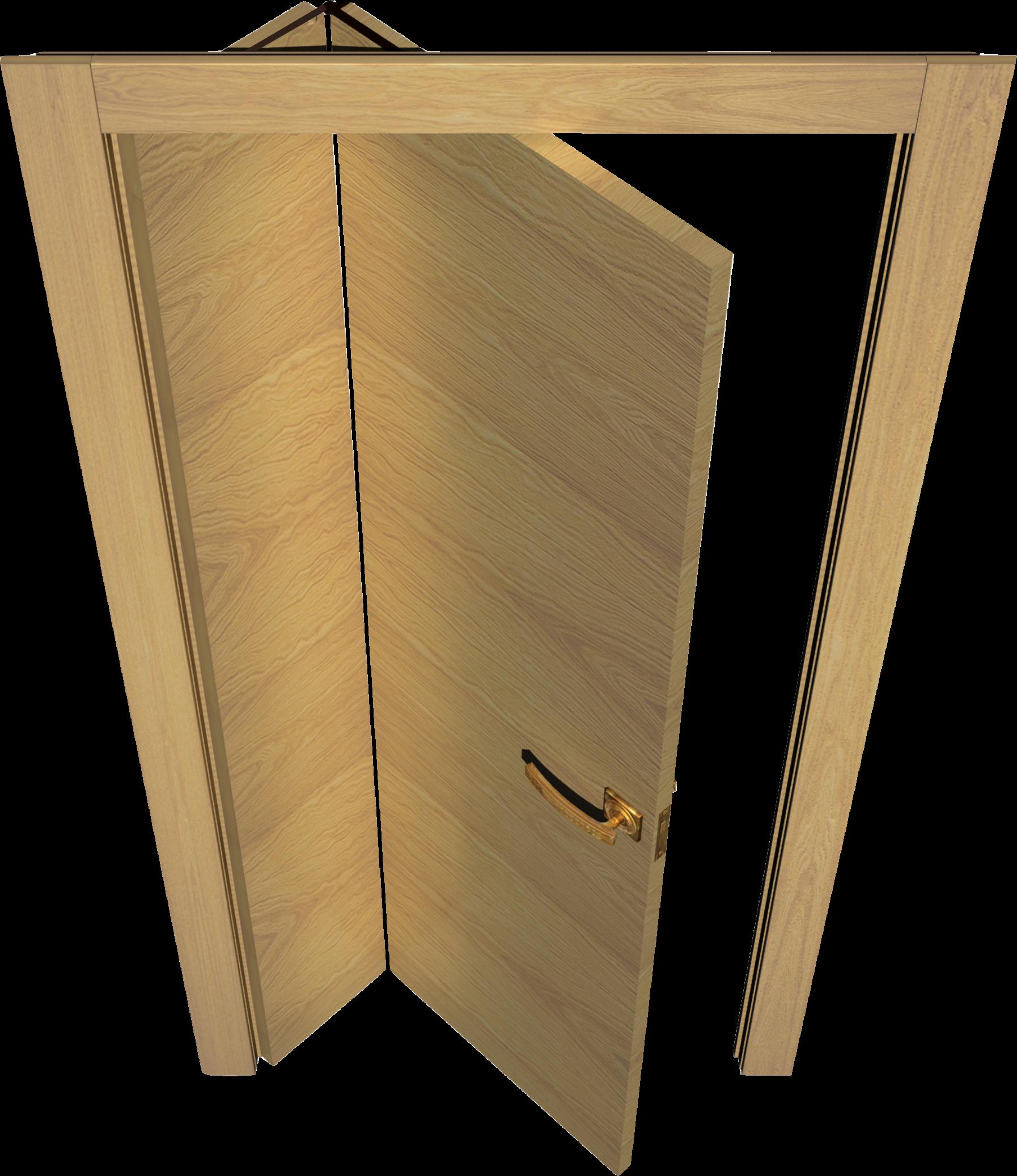 Дверь книжка из двух секций