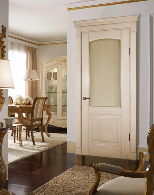 Дверь из беленого дуба в классическом стиле