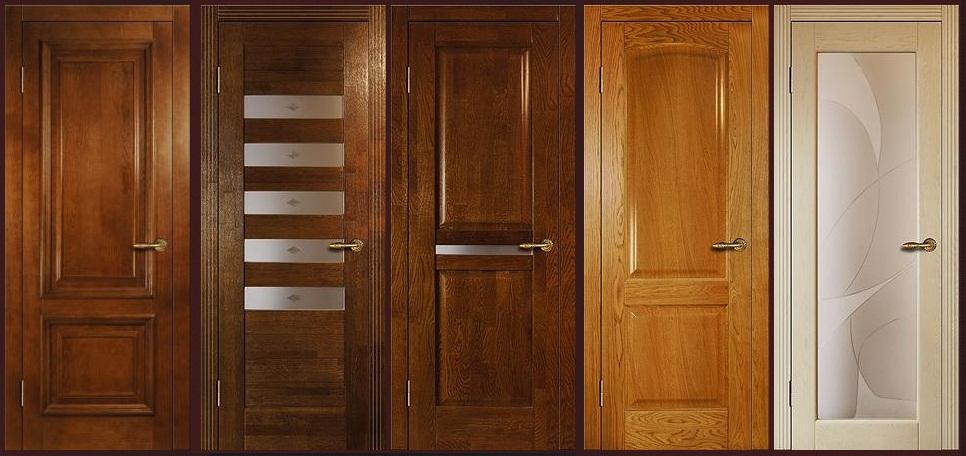 Разновидности дверей из массива дуба