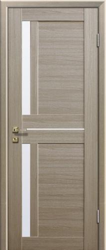 Дверь из шпона цвета капучино
